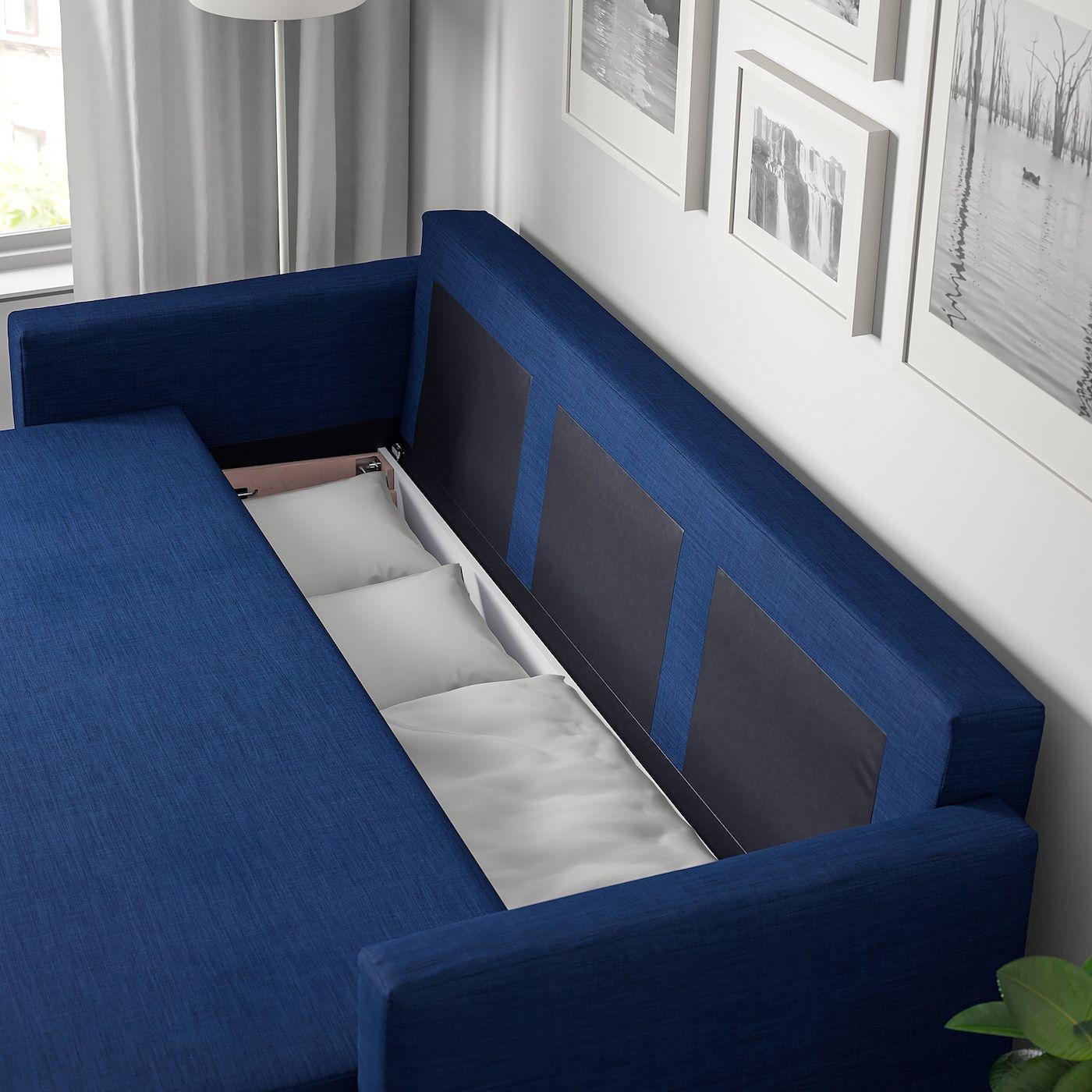 Ikea Friheten Skiftebo Blue Sleeper Sofa In 2020 Sleeper Sofa