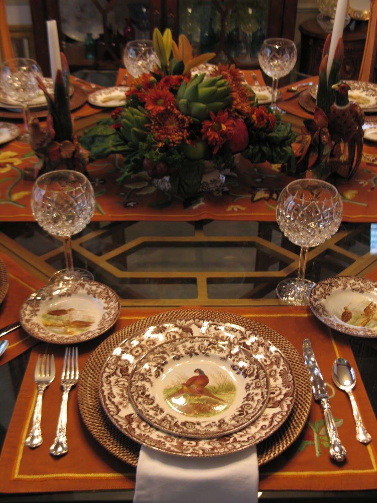 Spode Woodland Table Centerpiece Is A Beautiful Woodland