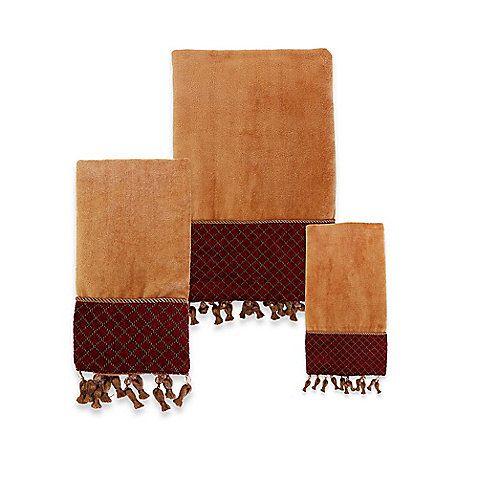 Austin Horn Classics Montecito Red Gold Cotton Towel Cotton