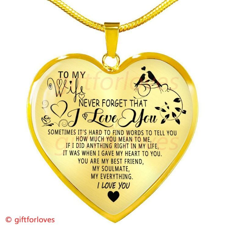 6eb77fb6ec25 To My Wife Luxury Necklace  Husband And Wife Necklace