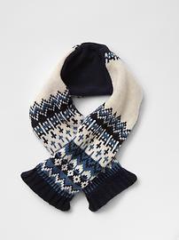 Fair isle wrap scarf