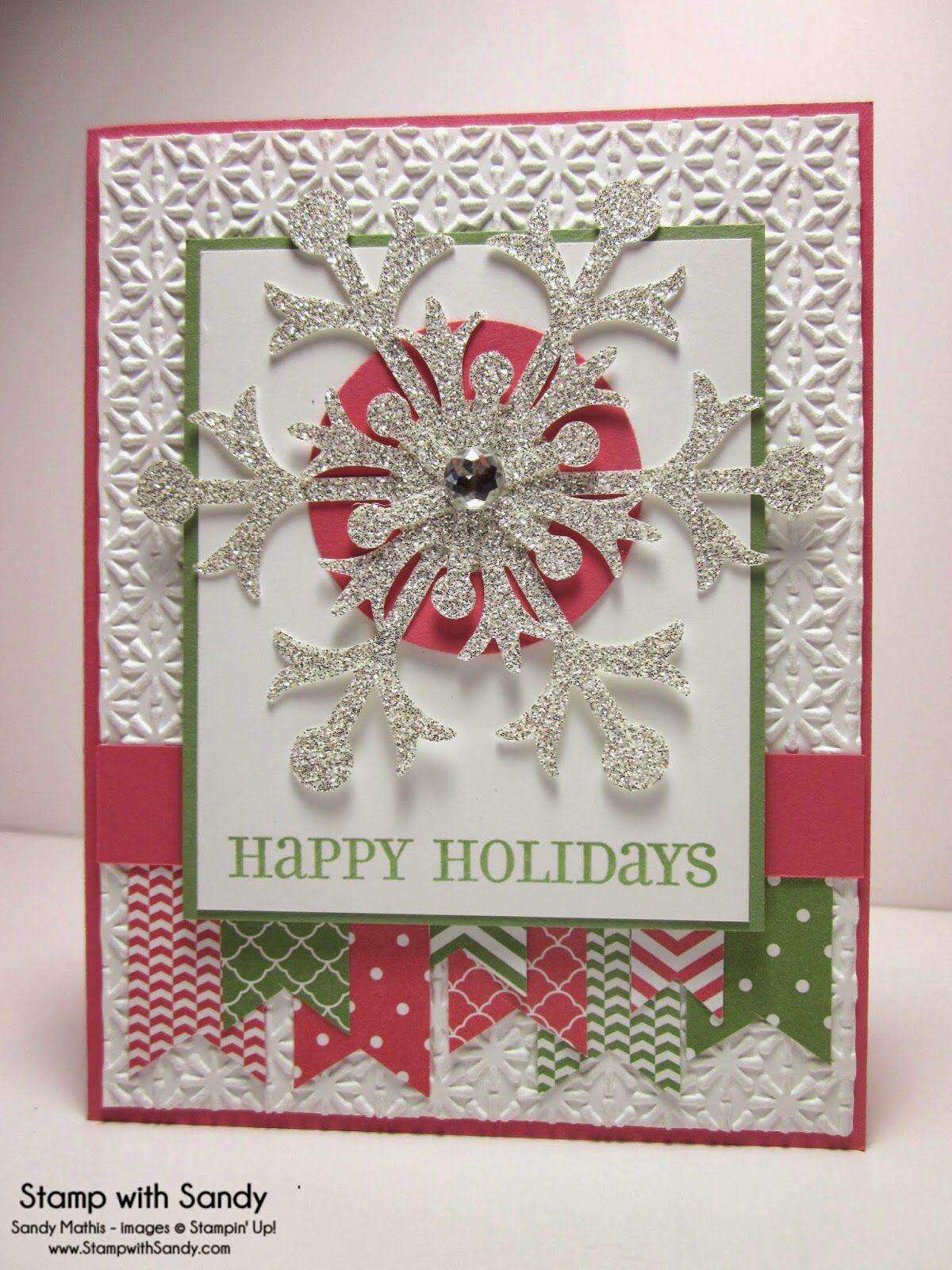 Four the Holidays, Snow Flurry Bigz Die, Snow Burst Embossing Folder