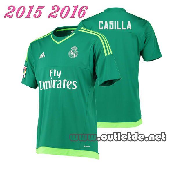 Tenue foot Maillot Gardien Real Madrid extérieur 2015 2016 manche courte vert flocage officiel