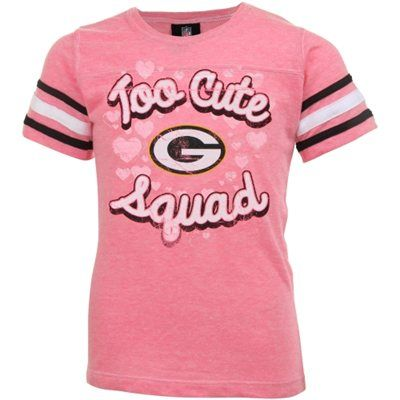 8d987389 Green Bay Packers Girls Youth Too Cute Tri-Blend T-Shirt – Pink ...