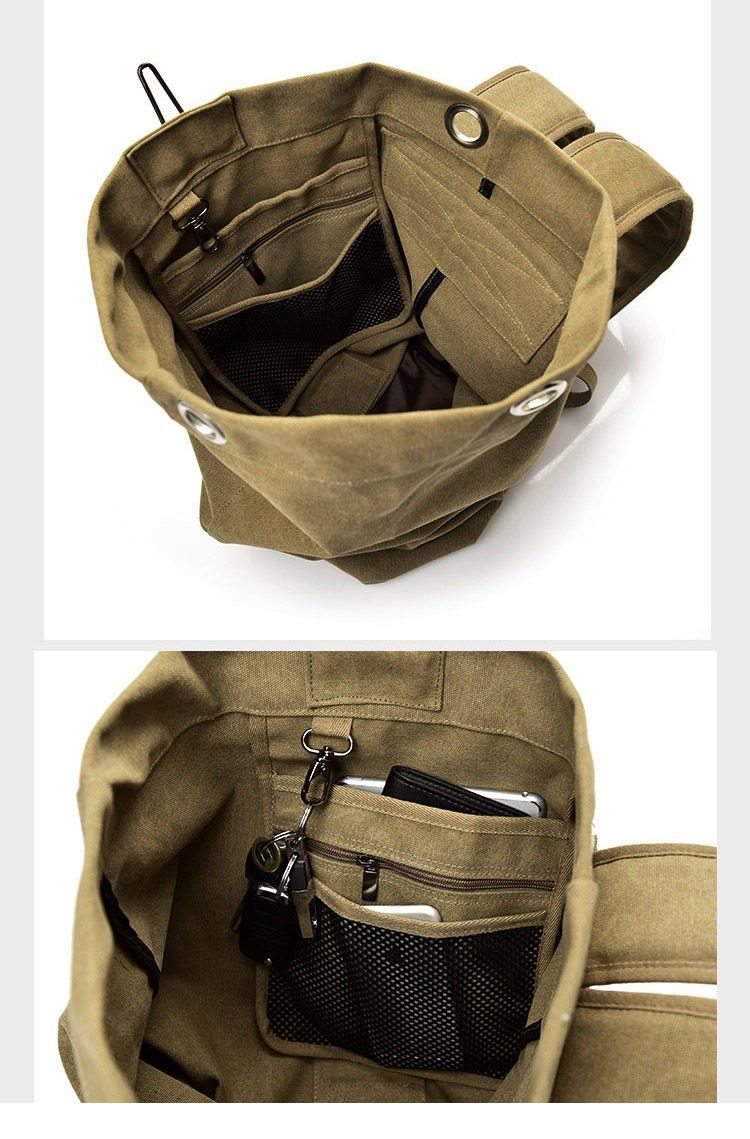 3d86e2afaf Multifunctional Military Tactical Canvas Backpack Big Army Bucket Bag  Duffle Bag Travel Rucksack
