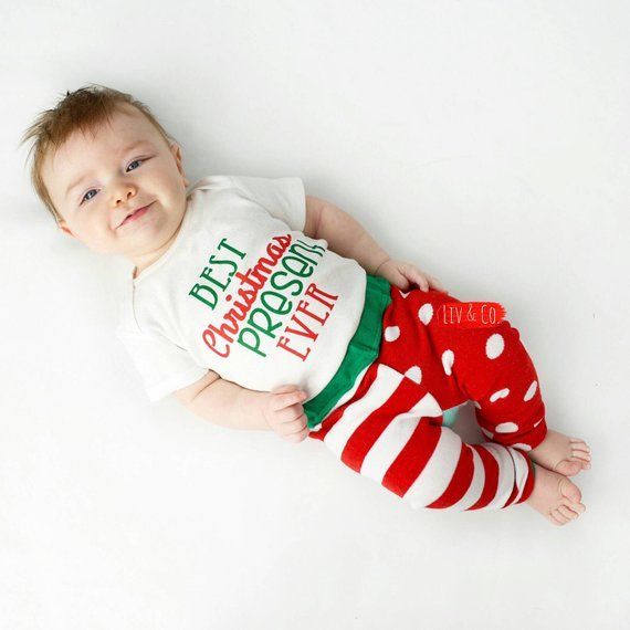 86d0175ad313 Best Christmas Present Ever Infant Newborn Baby Boy Christmas Outfit  Toddler Boy Christmas Shirt Bab