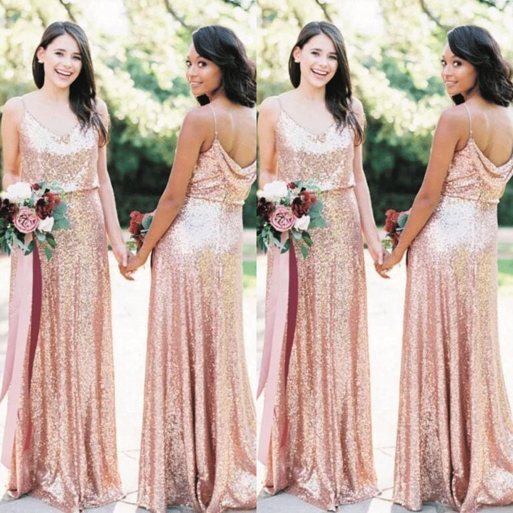 Cheap Bridesmaid Dresses Buy Quality Weddings Events Directly From Chin In 2021 Rose Gold Bridesmaid Dress Long Gold Bridesmaid Dresses Long Gold Bridesmaid Dresses [ 1000 x 1000 Pixel ]