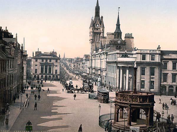 Castle Street In The Granite City Aberdeen Aberdeen Scotland Scotland Ireland Landscape