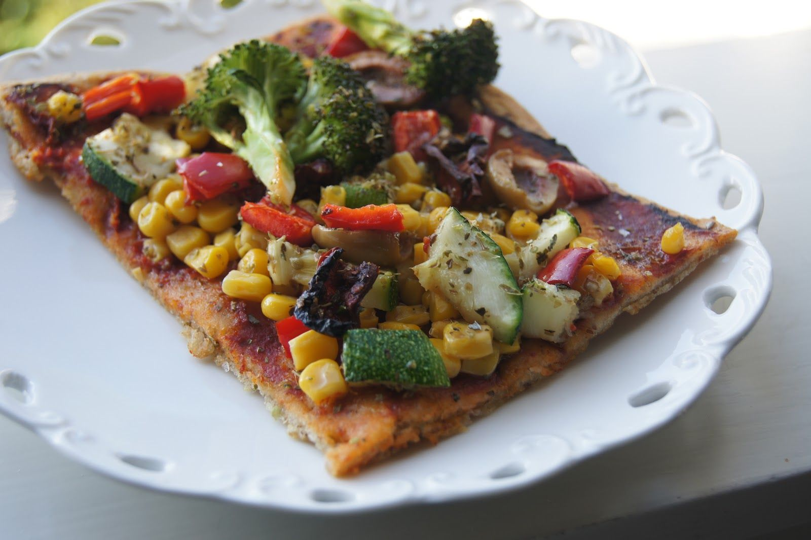 #Homemade whole-grain #gluten-free #vegan #pizza crust # ...