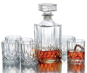 Winter Wonder Lane Denmark 7 Piece Decanter Beverage Set Big Lots In 2021 Whiskey Decanter Set Decanter Set Decanter