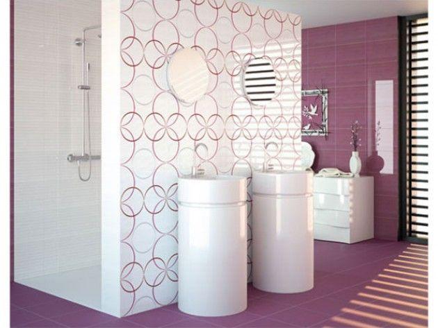 Le violet mauve est une couleur ayant des vertus apaisantes qui permettent de calmer les - Faience salle de bain enfant ...
