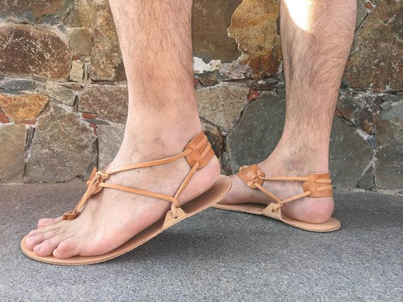 Barefoot mannen sandalen 100% echt leer Barefoot Huarache