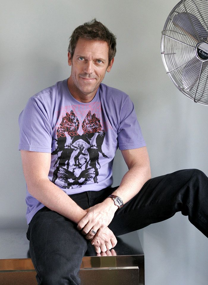 Hugh Laurie -- Funny, musical AND in a purple tee! (Kathy ...