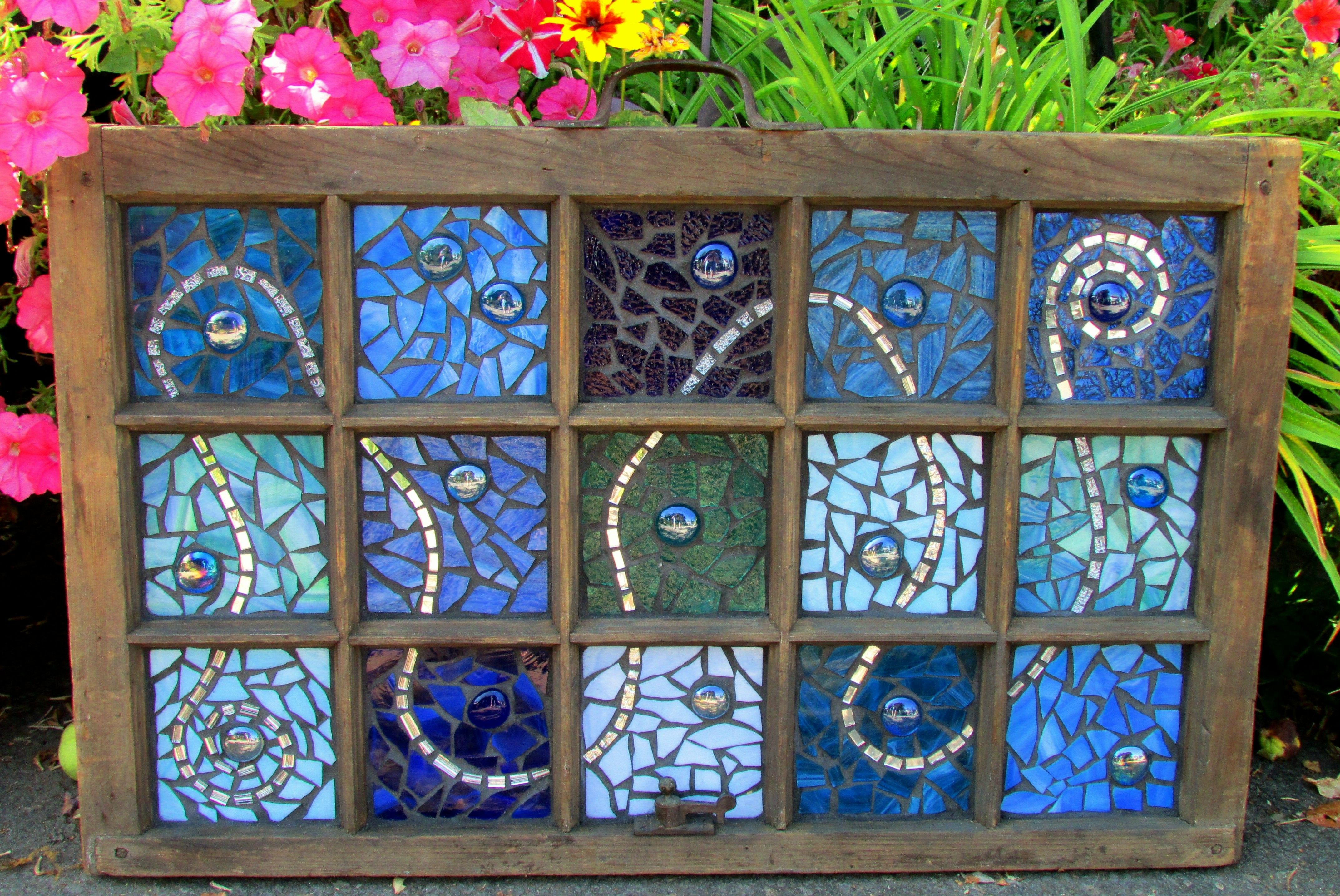 Blues.....old window.....stained glass mosaic.