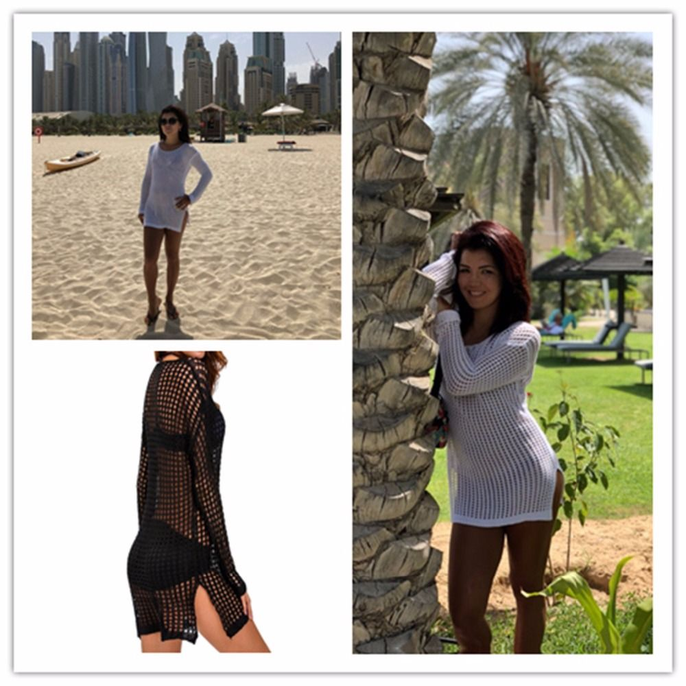 496414fb39252  27.77 - Cool Pareo Beach Wear Sexy Bikini Cover Up Hollow Cotton Beach  Cover Ups Swimwear