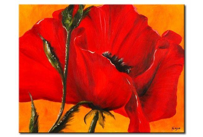 Leinwandbild Reizvolle Mohnblume Mohnblume Blumen Wandbild Mohn