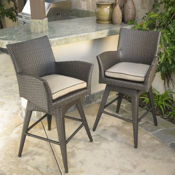 santa fe swivel patio barstool 2 pack by mission hills 599 99 rh pinterest com mission hills valencia patio furniture mission hills patio furniture cushions