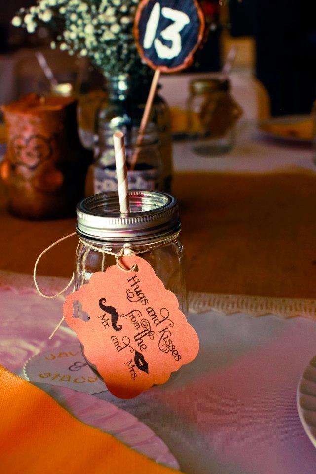 Mason Jar wedding favors/cups rustic wedding, mason jars, burlap ...
