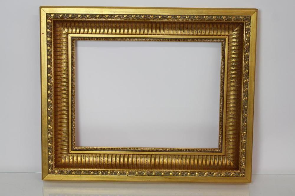 58x48 cm goldener Rahmen Bilderrahmen Prunkrahmen Holz Stuck ...