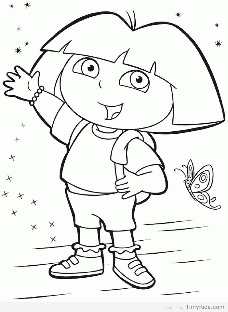 Dora Coloring Pages Ideas Dora Coloring Nick Jr