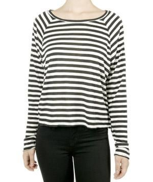 ec5462e9 ... Will Make You Look Effortlessly Chic. The Lady & the Sailor Raglan  Striped Tee | Virtually trend-proof, the versatile shirt—try it with denim,  florals, ...