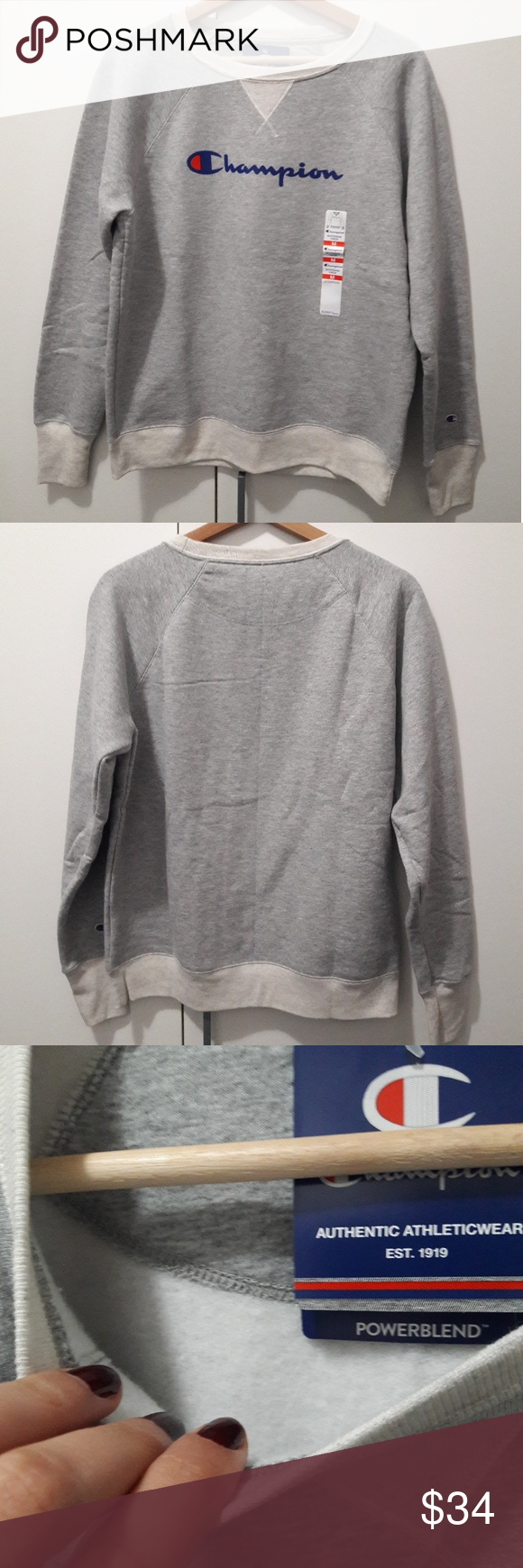 Champion Fleece Boyfriend Crew Pullover Brand New With Tags Champion Boyfriend Crew Pullover Super Soft And Warm Not Too Bul Pullover Clothes Design Sweaters [ 1740 x 580 Pixel ]