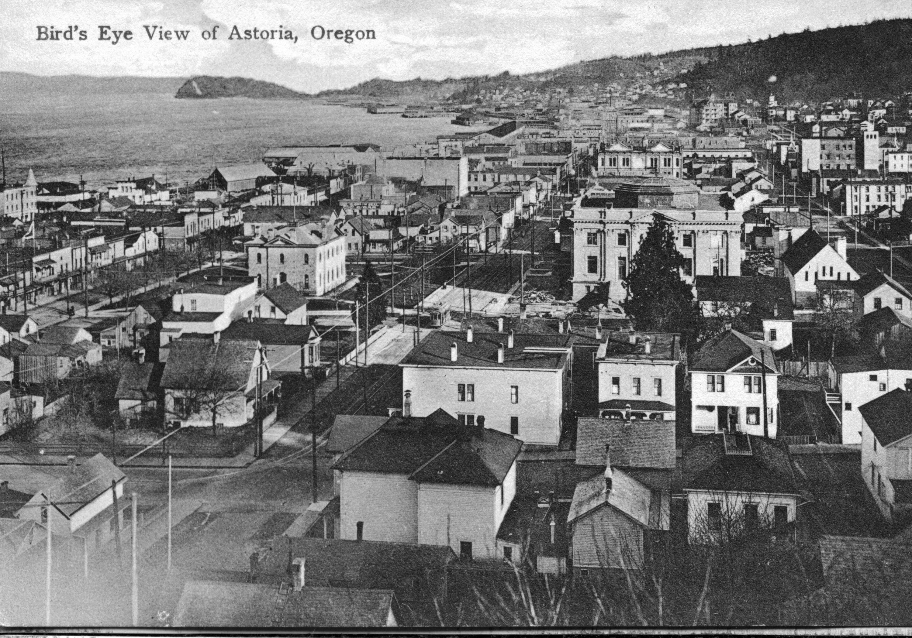 map antique astoria oregon Astoria Oregon