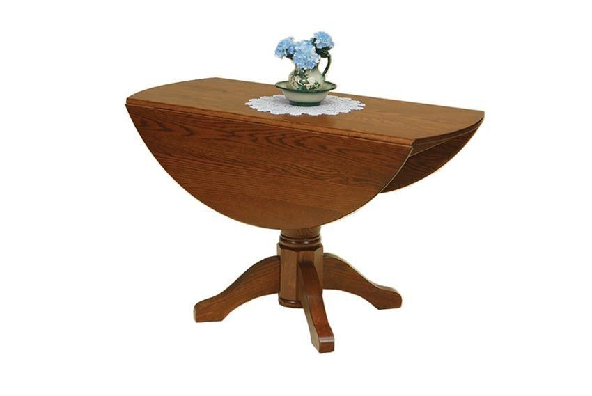 Delightful Amish Monroe Dropleaf Pedestal Dining Room Table For Front Entry Area