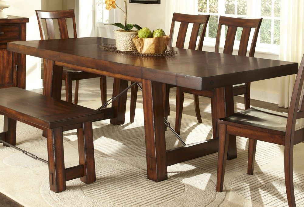 Portrayal Of Awesome Dinette Sets With Bench  Furniture Endearing Wooden Bench For Dining Room Table Inspiration Design