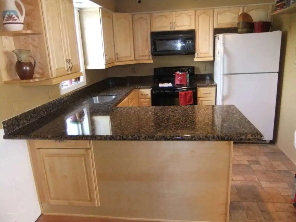 White marble countertops with maple cabinets new tan brown ... on Light Maple Cabinets With White Countertops  id=92906