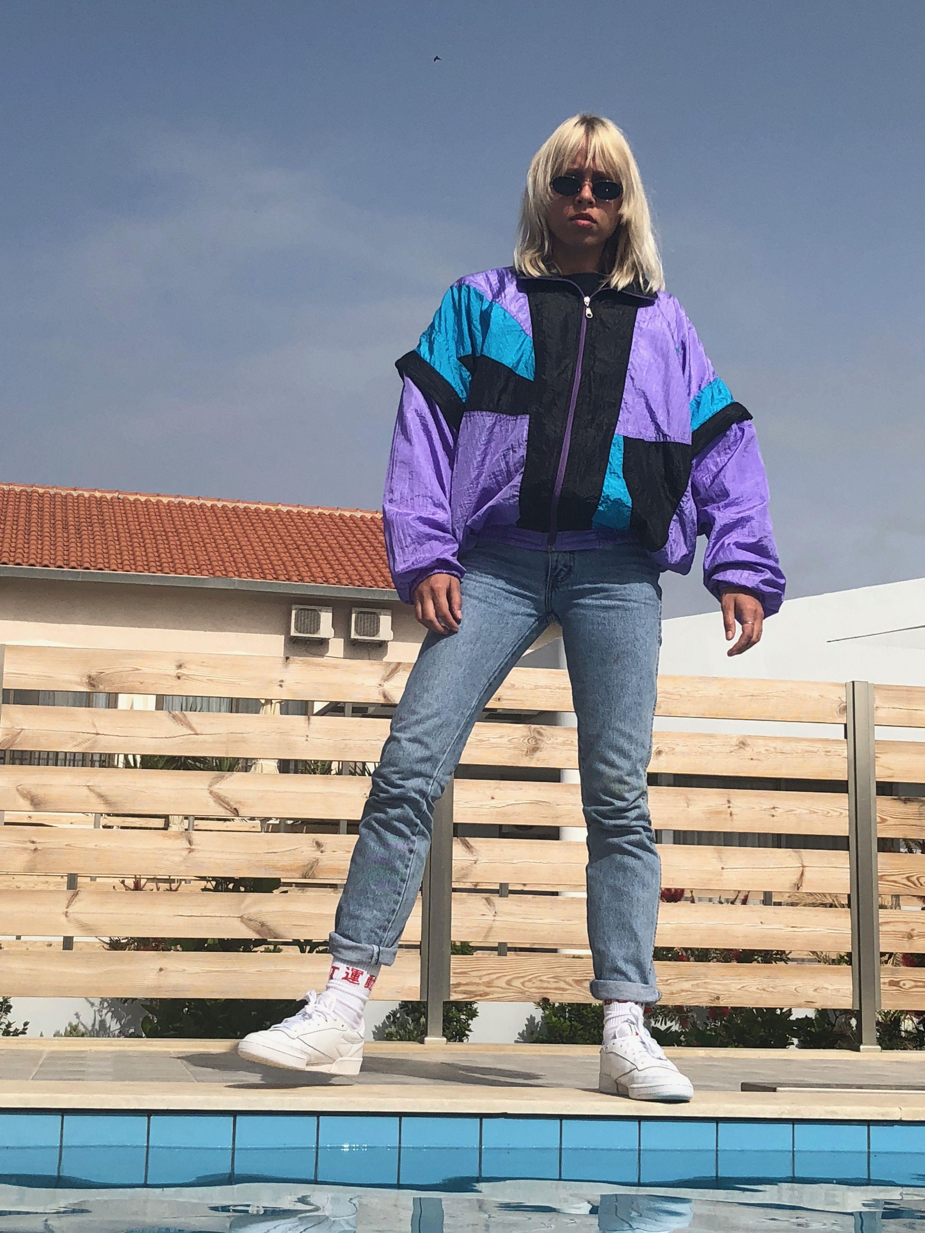Gucci 90 S 80 S Multi Vintage Jacket Windbreaker Vintage Clothes Shop 90s Fashion Outfits Vintage Jacket