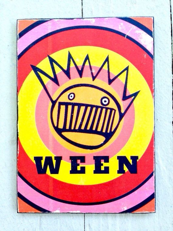 Ween art - Boognish art print - psychedelic wall art - wood wall ...