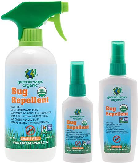 Greenerways Organic, Insect Repellent, Bug Spray, Premium