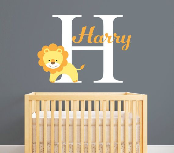 Personalized Name Wall Decal Lion Custom