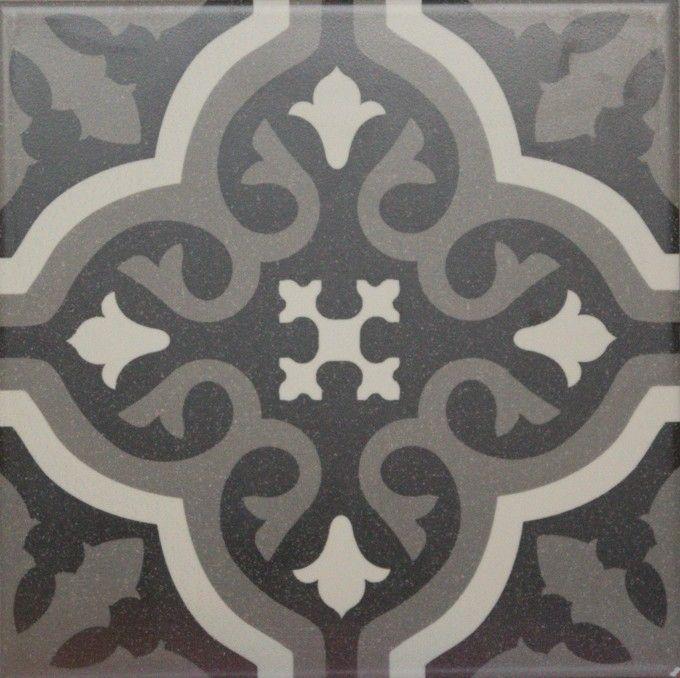 Carrelage Imitation Carreau Ciment Sol Et Mur Noir 20 X 20 Cm