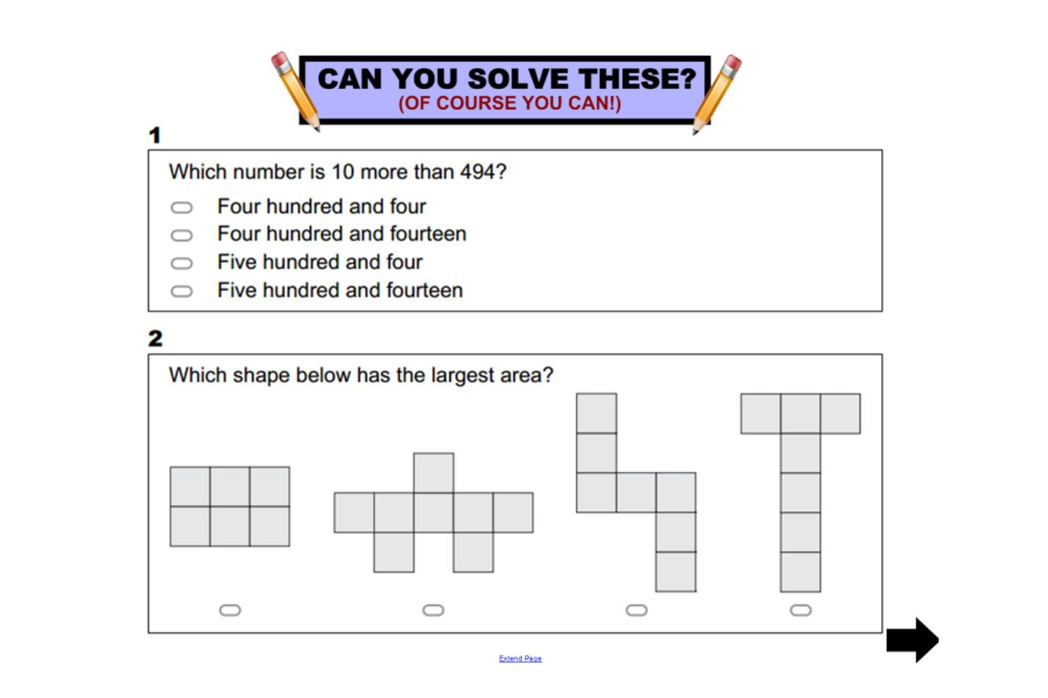 Year 3 Napaln Numeracy Practice Questions For Iwb