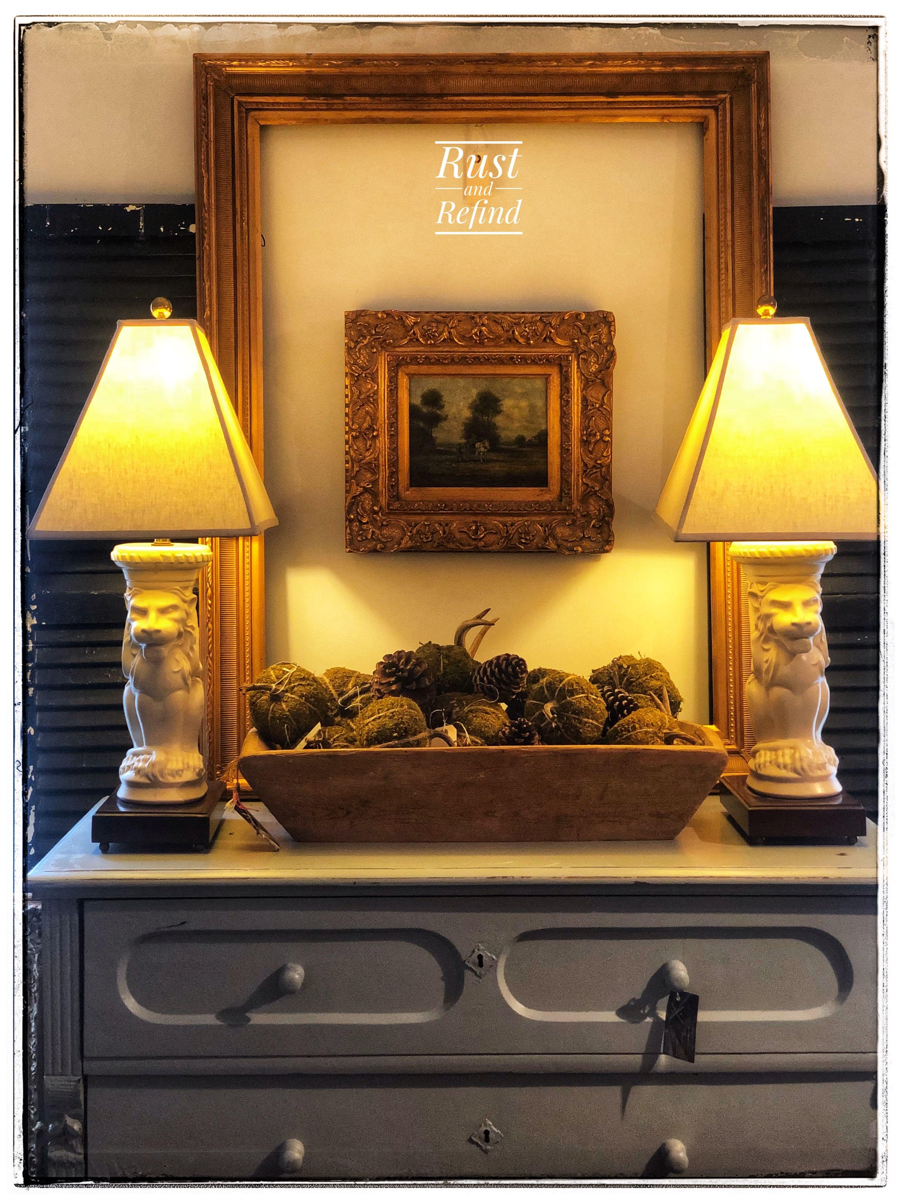 Home American Decor Gold Frame Lamp