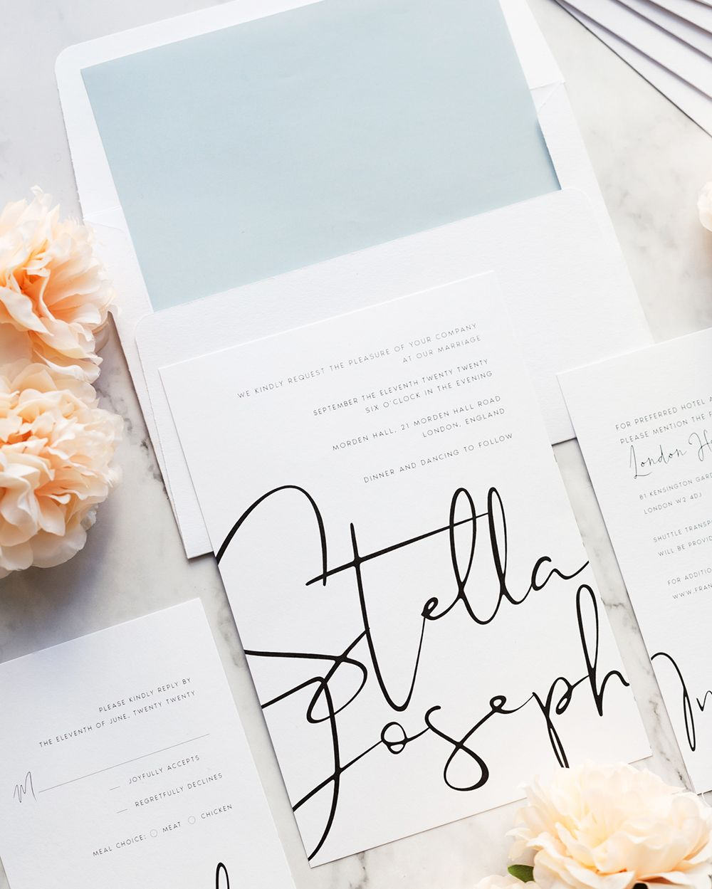 modern calligraphy wedding invitation 2 (Dengan gambar)