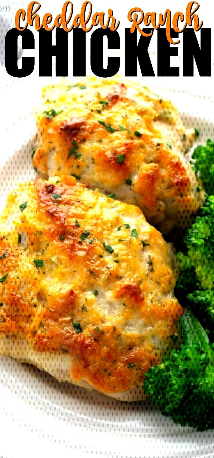 This Easy Baked Cheddar Ranch Chicken Thighs Recipe can be whipped up in just a few minutes, popped