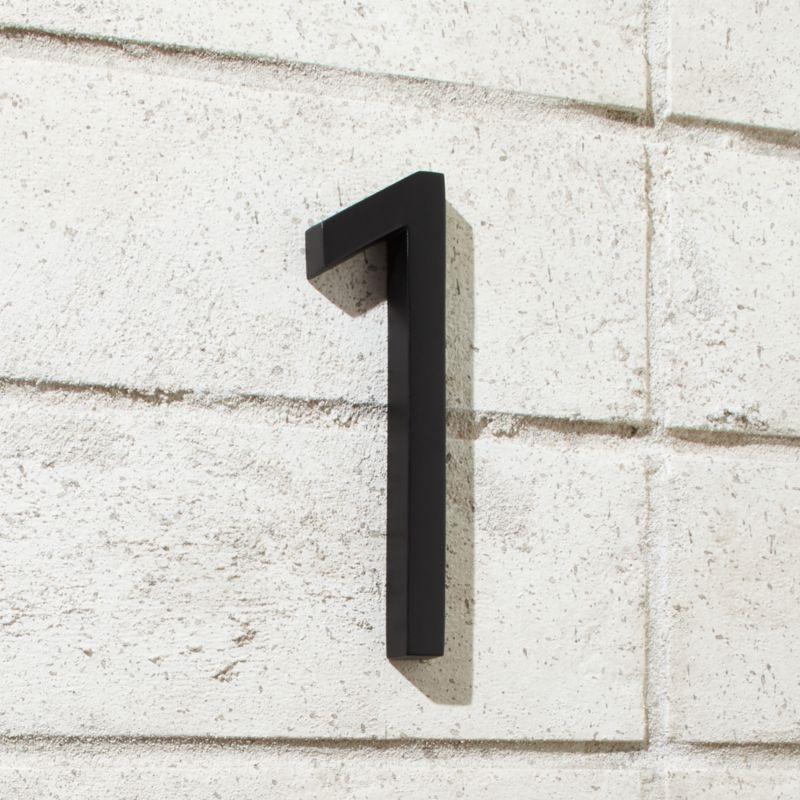 Aurele 6 Matte Black House Number 1 House Numbers Black House