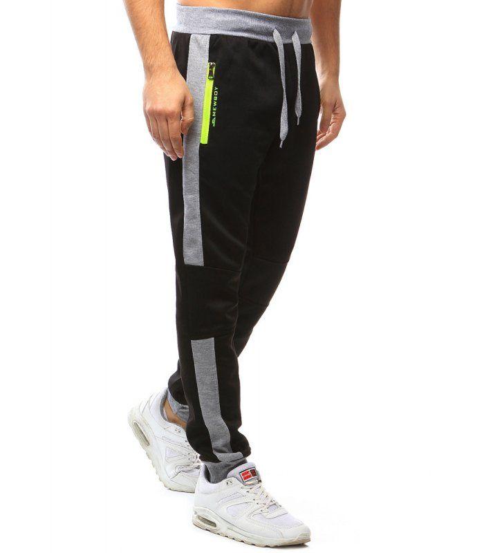 fd0ebc50cf1d Pánske čierne teplákové nohavice