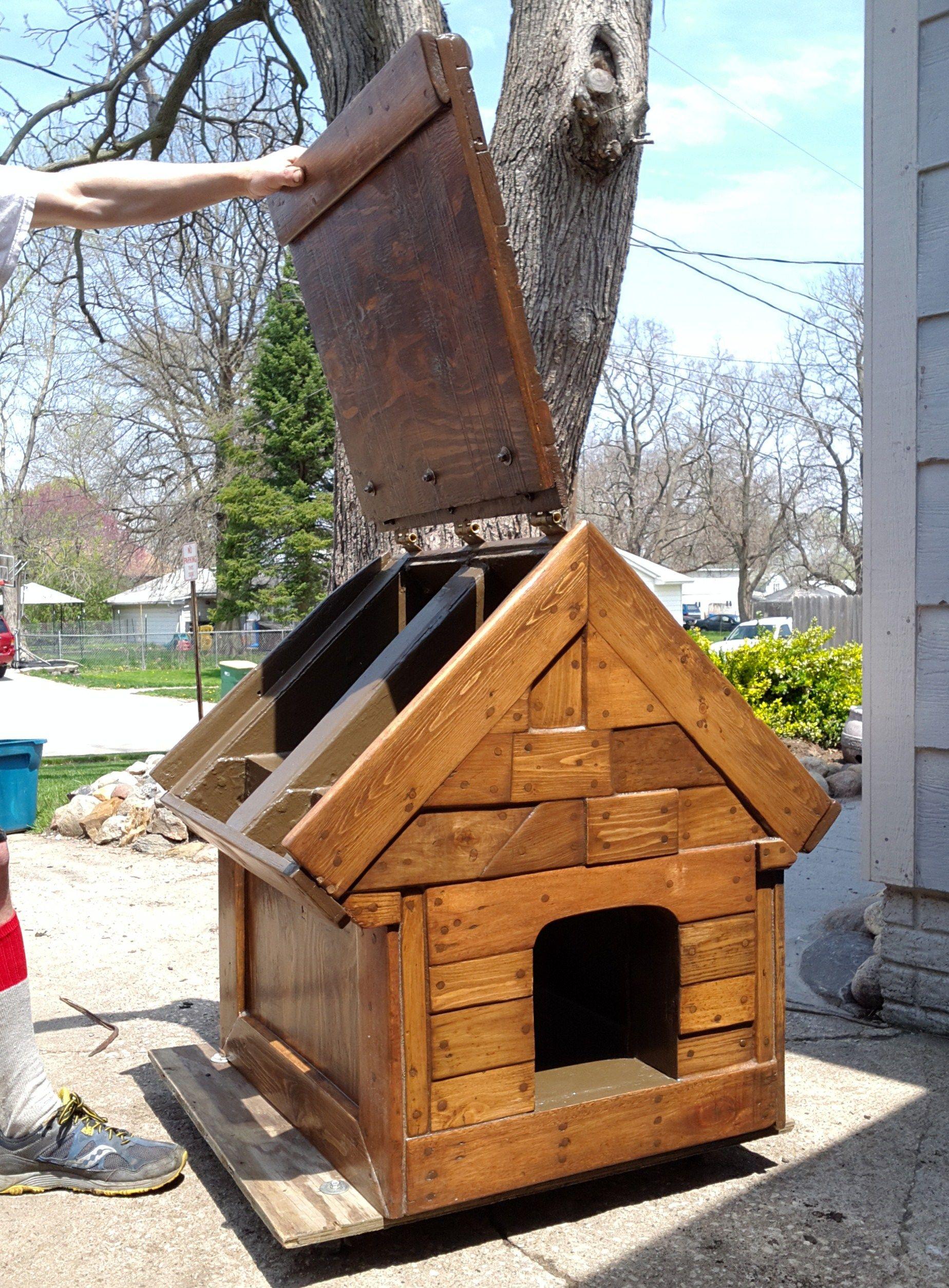bf4a75e1fbe91c15571a7767e086ac92 dog house hinged roof plans noten animals,Dog House Plans With Hinged Roof