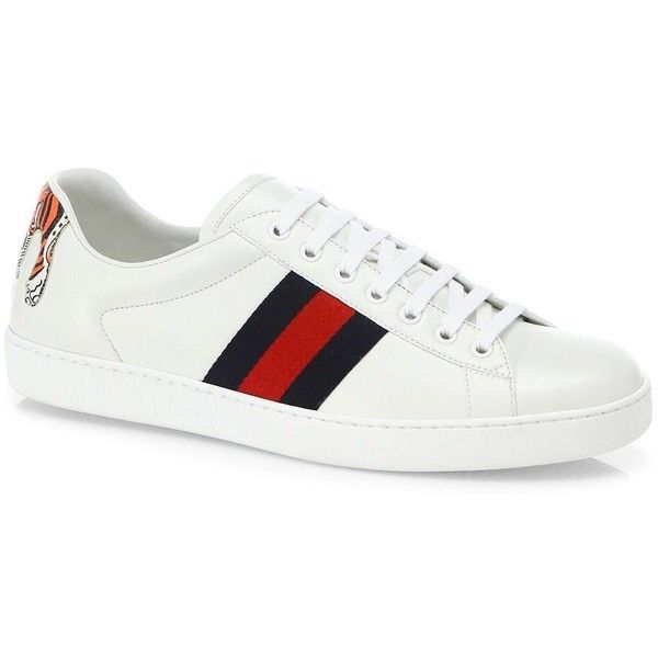 0ee841b8187 Indie Designs New Ace Hanging Tiger Leather Low-top Sneakers
