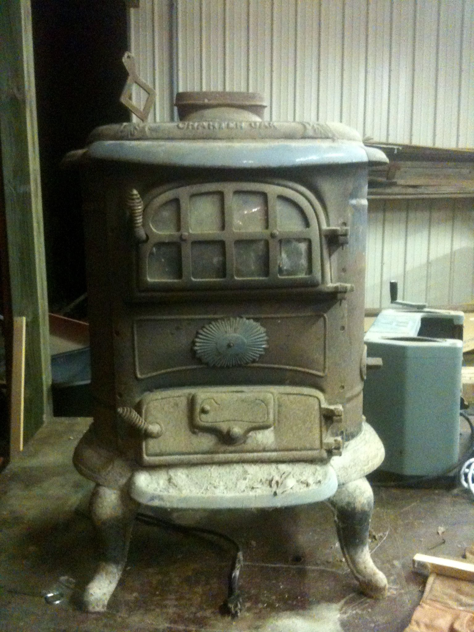 Our New Wood Burning Stove Charter Oak Stove, Model #614,