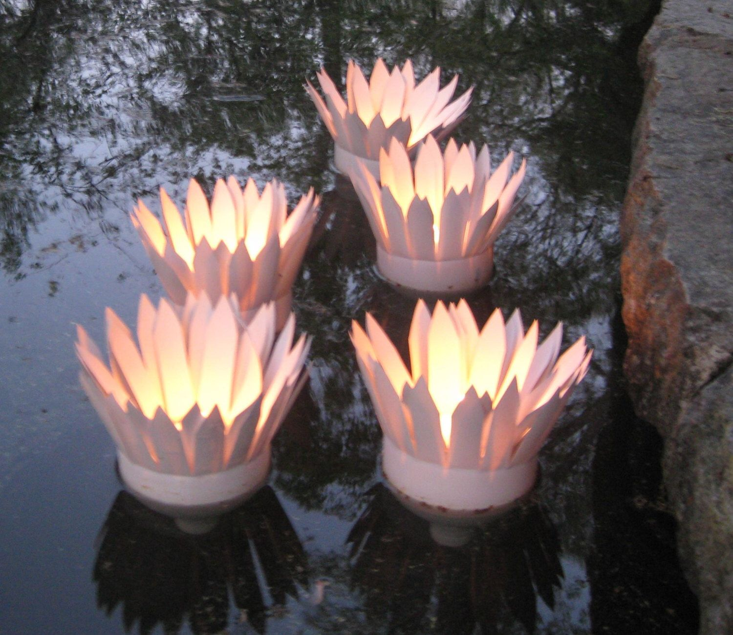 Custom Order Floating Votive Water Lilly Candle Holder S For Pool Or