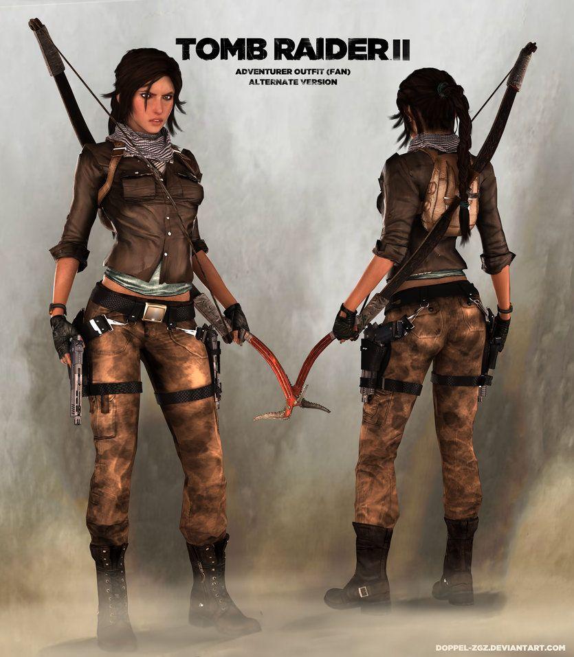 Wallpaper Shadow Of The Tomb Raider Lara Croft Concept: TOMB RAIDER 2: Lara Concept Outfit (alternate) By DoppeL