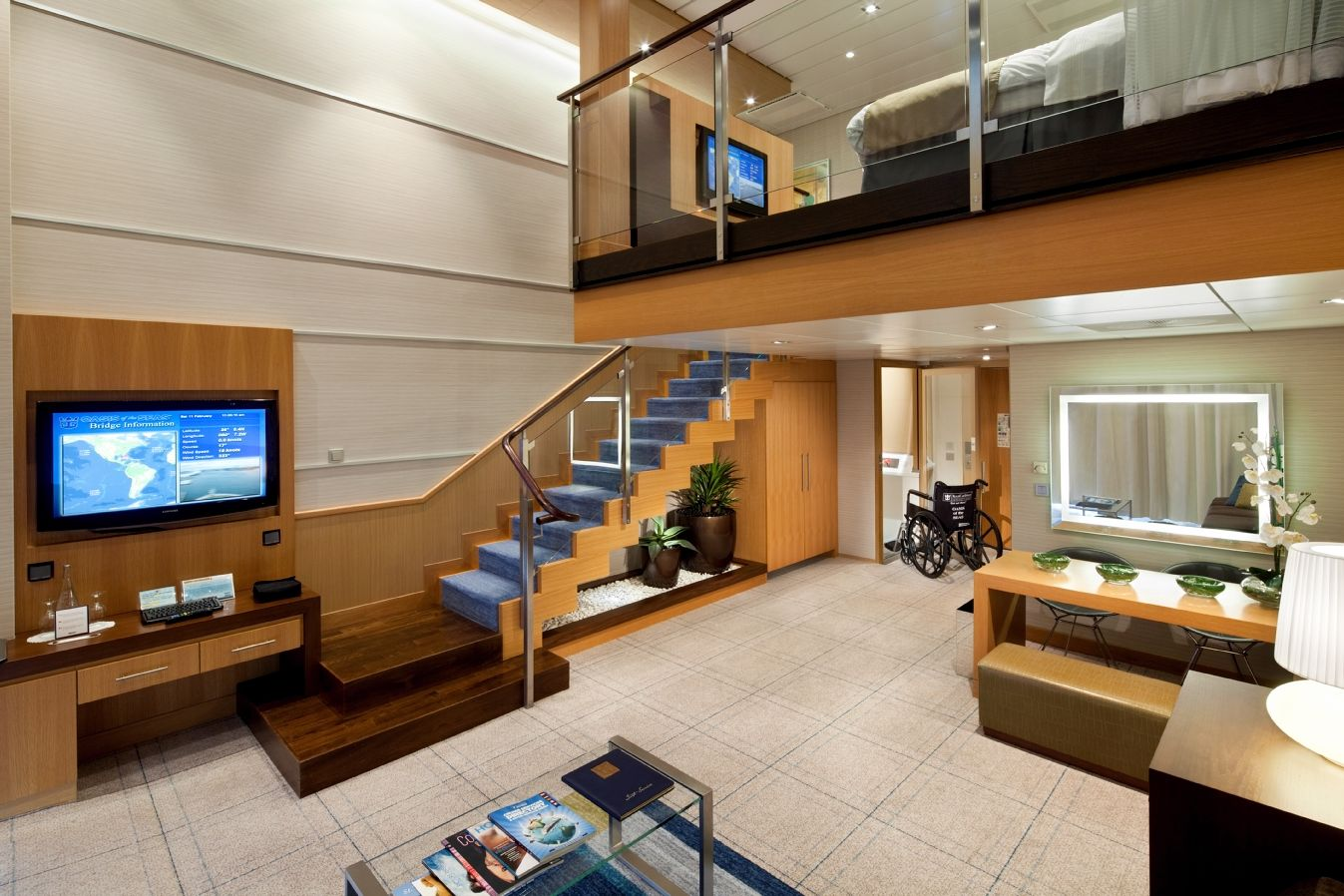 A Luxurious Two Story Royal Loft Suite On Royal Caribbean S Oasis Of The Seas Biggest Cruise Ship Cruise Ship Carribean Cruise