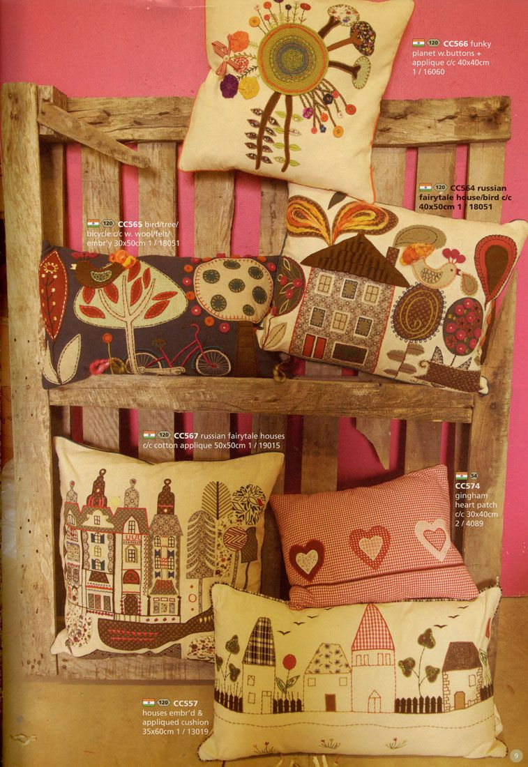 Oh! These pillows are so beautiful! :) Cute, country-like and beautifully decorated pillowcases!