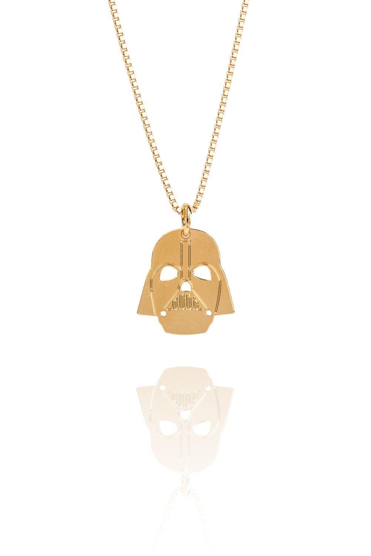 Malaika Raiss STAR WARS™ Halskette Darth Vader vergoldet www.styleserver.de