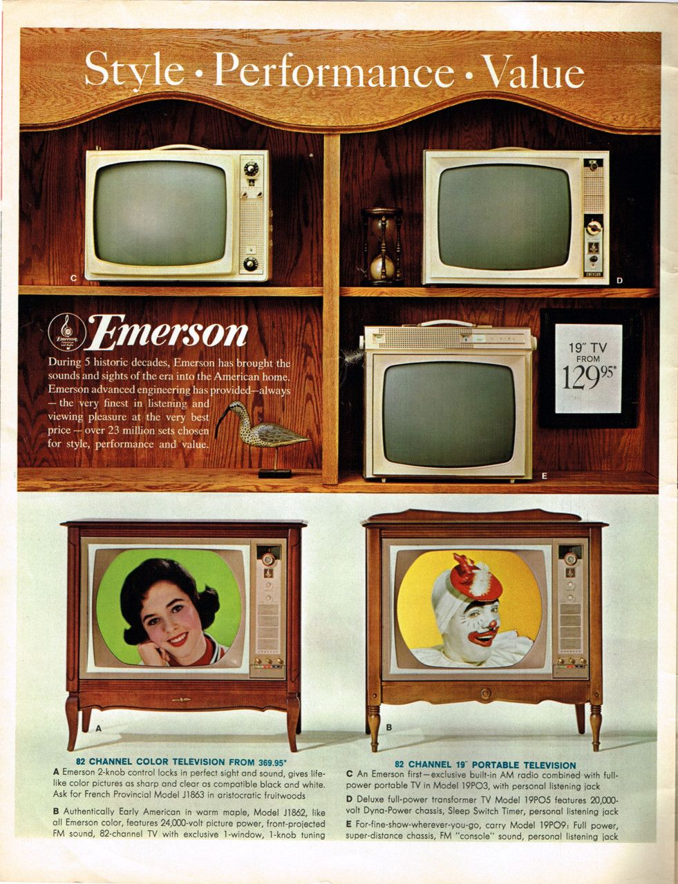 Remarkably Retro Emerson 4 Page Foldout Ad Look Magazine Color Television Classic Tv Look Magazine